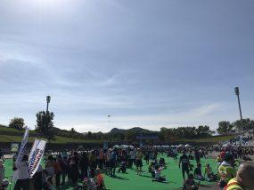 札幌マラソン真駒内アイスアリーナゴール付近写真