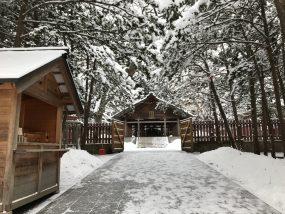 開拓神社(2017年12月朝活画像)